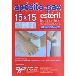 APÓSITO-PAX ESTÉRIL 15 X 15 30 COMPRESAS