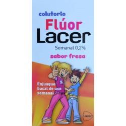 COLUTORIO FLÚOR SABOR FRESA 500 ML LACER