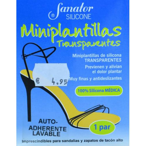 MINIPLANTILLAS TRANSPARENTES SILICONA 1 PAR SANATOR