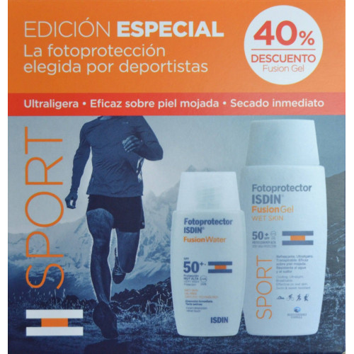 PACK FUSION WATER 50 ML + FUSION GEL SPORT 100 ML ISDIN