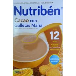 PAPILLA CACAO CON GALLETAS MARÍA 500 G (2 X 250 G) DESDE LOS 12 MESES NUTRIBÉN
