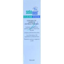 ESPUMA LIMPIADORA ANTIBACTERIANA CLEAR FACE 150 ML SEBAMED