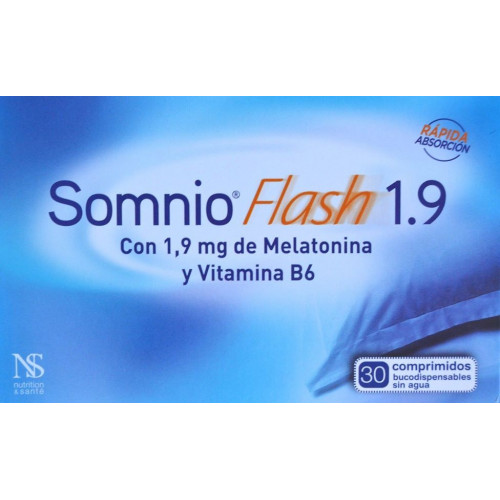 SOMNIO FLASH 1,9 30 COMPRIMIDOS BUCODISPERSABLES NUTRITION & SANTÉ