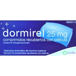 DORMIREL 25 MG 16 COMPRIMIDOS CINFA