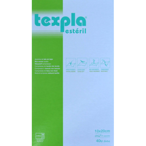 TEXPLA ESTÉRIL 10 X 20 CM 40 UNIDADES