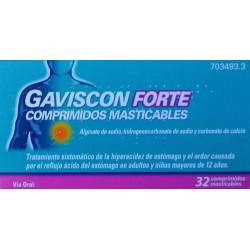 GAVISCON FORTE 32 COMPRIMIDOS MASTICABLES RECKITT BENCKISER HEALTHCARE
