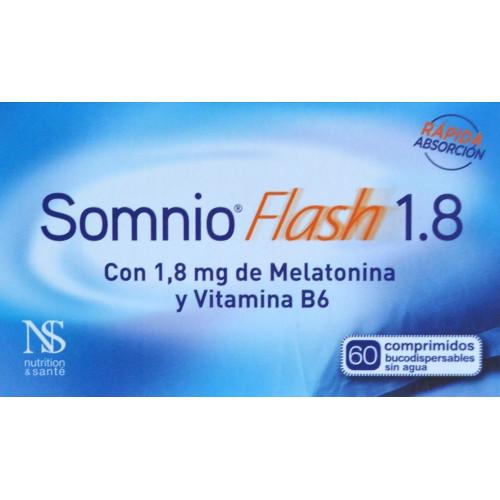 SOMNIO FLASH 1.8 60 COMPRIMIDOS BUCODISPERSABLES NUTRITION & SANTÉ