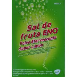 SAL DE FRUTA ENO POLVO EFERVESCENTE SABOR LIMÓN 10 SOBRES GSK