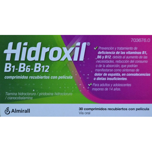 HIDROXIL 30 COMPRIMIDOS RECUBIERTOS CON PELICULA ALMIRALL