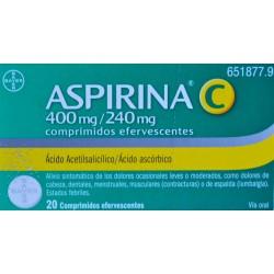 ASPIRINA 400 MG/240 MG 20 COMPRIMIDOS EFERVESCENTES BAYER