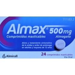 ALMAX 500 MG 24 COMPRIMIDOS MASTICABLES ALMIRALL
