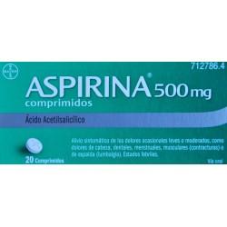 ASPIRINA 500 MG 20 COMPRIMIDOS BAYER
