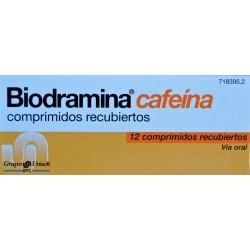 BIODRAMINA CAFEÍNA 12 COMPRIMIDOS RECUBIERTOS GRUPO URIACH