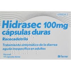 HIDRASEC 100 MG 10 CÁPSULAS FERRER