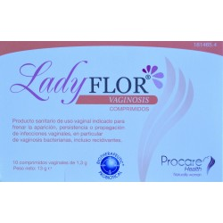 LADY FLOR VAGINOSIS 10 COMPRIMIDOS VAGINALES PROCARE HEALTH
