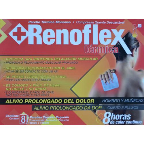 RENOFLEX TÉRMICA 8 PARCHES TAMAÑO PEQUEÑO 130 MM X 100 MM