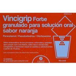 VINCIGRIP FORTE 10 SOBRES SABOR NARANJA SALVAT