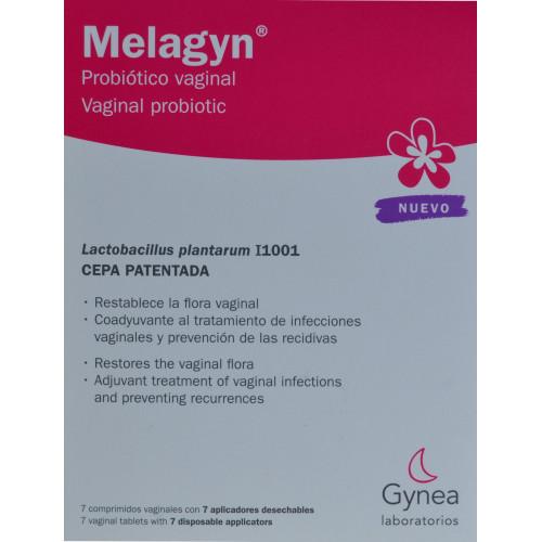 MELAGYN PROBIÓTICO VAGINAL 7 COMPRIMIDOS VAGINALES CON 7 APLICADORES DESECHABLES GYNEA LABORATORIOS