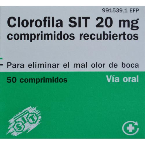 CLOROFILA SIT 20 MG 50 COMPRIMIDOS