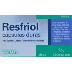 RESFRIOL 20 CÁPSULAS DURAS TEVA