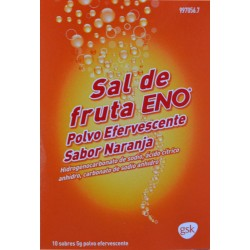 SAL DE FRUTA ENO POLVO EFERVESCENTE SABOR NARANJA 10 SOBRES GSK