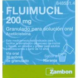 FLUIMUCIL 200 MG 30 SOBRES DE GRANULADO SABOR A NARANJA ZAMBON
