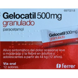 GELOCATIL 500 MG 12 SOBRES FERRER