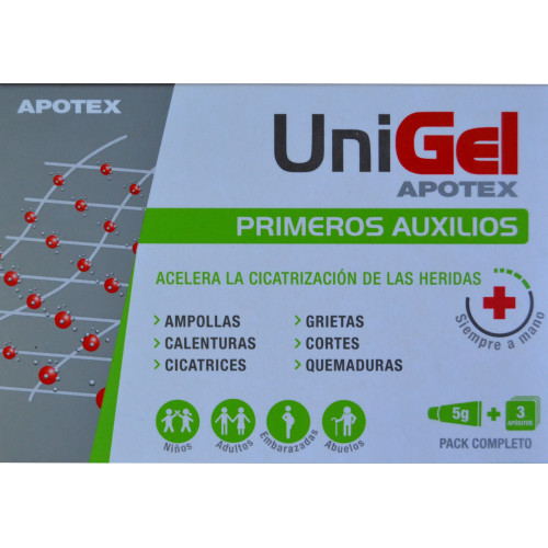 UNIGEL 5 G + 3 APÓSITOS APOTEX