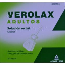 VEROLAX ADULTOS SOLUCIÓN RECTAL 6 ENVASES UNIDOSIS ANGELINI