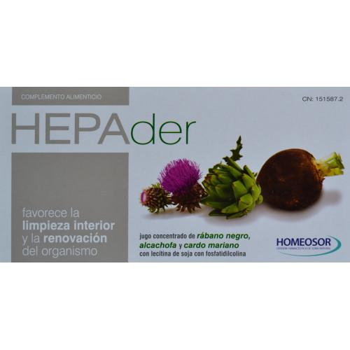HEPADER 14 VIALES DE 10 ML HOMEOSOR