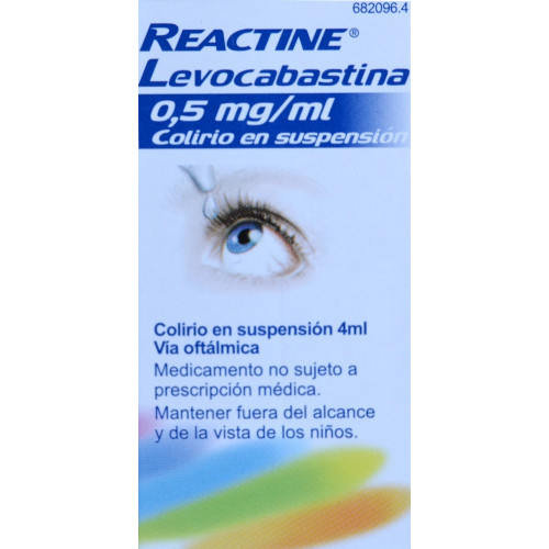 REACTINE LEVOCABASTINA 0,5 MG/ML COLIRIO EN SUSPENSIÓN JOHNSON & JOHNSON
