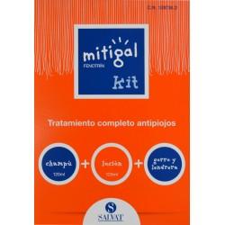 MITIGAL KIT CHAMPÚ + LOCIÓN + GORRO Y LENDRERA SALVAT