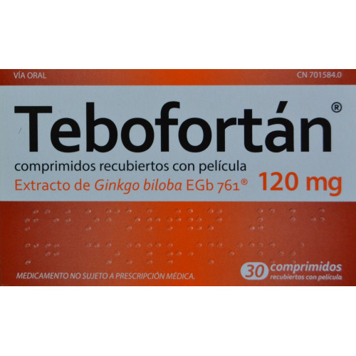 TEBOFORTÁN 30 COMPRIMIDOS RECUBIERTOS CON PELÍCULA