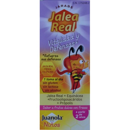 JARABE JALEA REAL VITALIDAD Y DEFENSAS JUANOLA NIÑOS 150 ML ANGELINI
