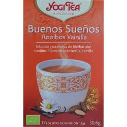 BUENOS SUEÑOS ROOIBOS VAINILLA 17 BOLSITAS YOGI TEA