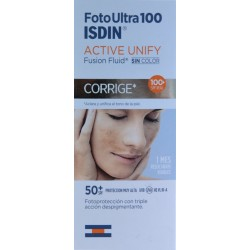 ACTIVE UNIFY FUSION FLUID SIN COLOR 50+ SPF FOTOULTRA100 ISDIN