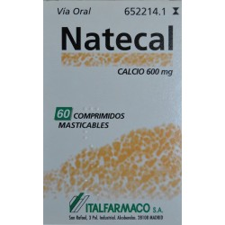 NATECAL 60 COMPRIMIDOS MASTICABLES ITALFARMACO