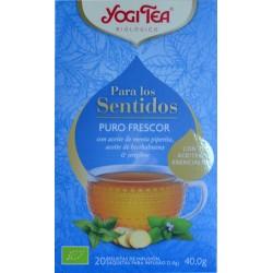 PURO FRESCOR PARA LOS SENTIDOS 20 BOLSITAS DE INFUSIÓN YOGI TEA