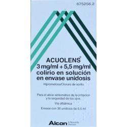 ACUOLENS 30 UNIDOSIS DE 0,5 ML ALCON