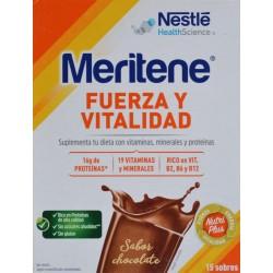 MERITENE FUERZA Y VITALIDAD 15 SOBRES SABOR CHOCOLATE NESTLÉ