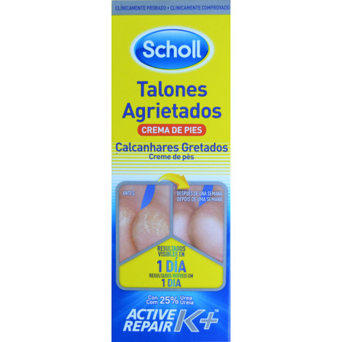 CREMA TALONES AGRIETADOS ACTIVE REPAIR K+ 60 ML DR. SCHOLL