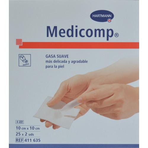 MEDICOMP 10 CM X 10 CM 25 X 2 UDS HARTMANN