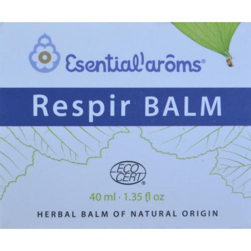 RESPIR BALM ECOCERT 40 ML ESENTIAL' AROMS