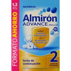 LECHE DE CONTINUACIÓN ALMIRÓN ADVANCE 2 CON PRONUTRA FORMATO AHORRO 1,2KG NUTRICIA