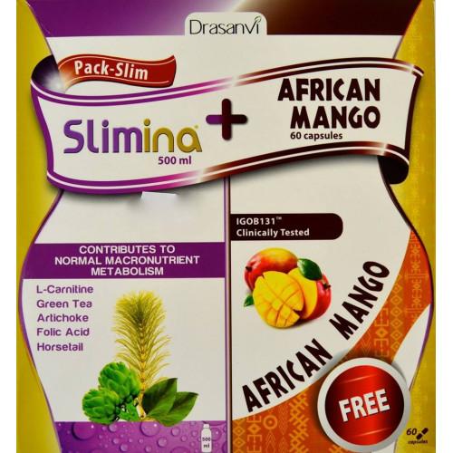 PACK SLIM SLIMINA 500 ML + AFRICAN MANGO 60 CÁPSULAS DRASANVI