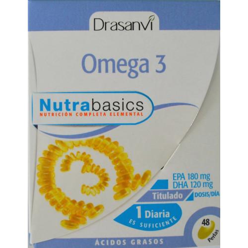 OMEGA 3 NUTRABASICS 48 PERLAS DRASANVI