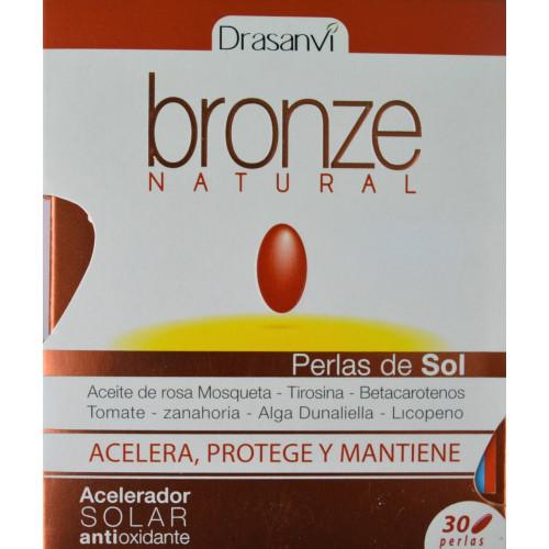 ACELERADOR SOLAR ANTIOXIDANTE BRONZE NATURAL 30 PERLAS DRASANVI
