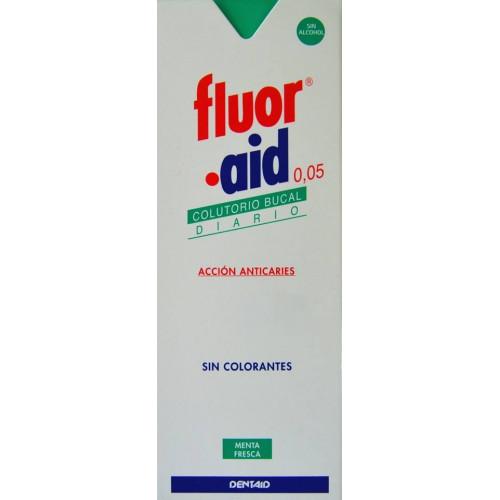 COLUTORIO ACCIÓN ANTICARIES FLUOR AID 0,05 500 ML DENTAID