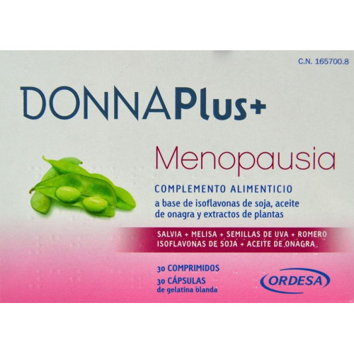 DONNAPLUS+ MENOPAUSIA 30 COMPRIMIDOS + 30 CÁPSULAS ORDESA