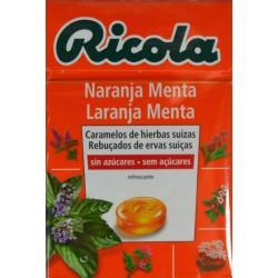CARAMELOS DE HIERBAS SUIZAS NARANJA MENTA RICOLA